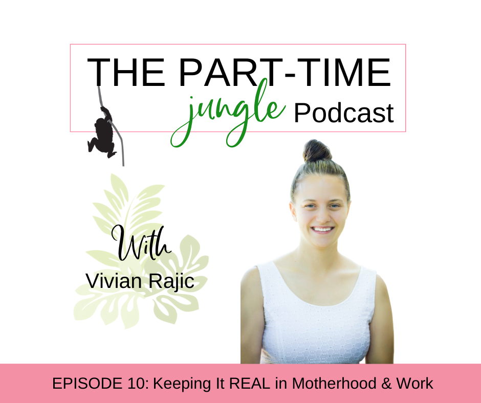 Vivian Rajic, a full time working from home boss mom to 2 boys and the founder of REAL Biz Moms, talks about keeping it REAL in motherhood and work.