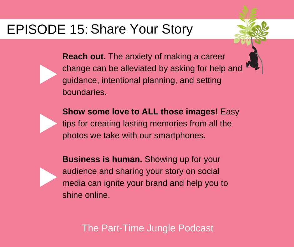 Nathalie Amlani, of Pictonat Photography, discusses how the anxiety of making a career change can be alleviated by asking for help and guidance, intentional planning, and setting boundaries, how to share your story with lasting memories from your smartphone photos and igniting your brand online.