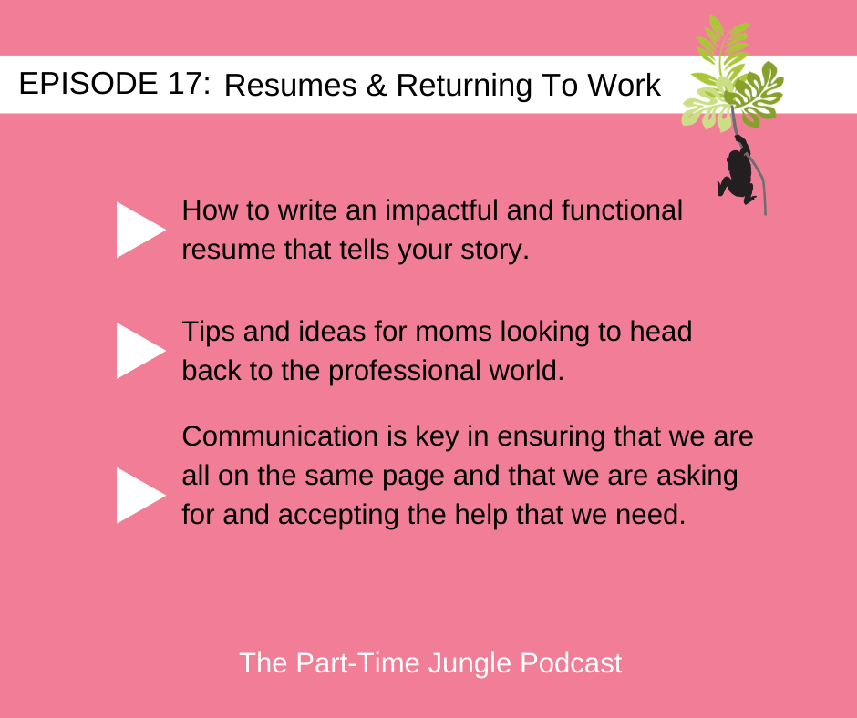 Clementine Crooks, of Resume Restoration, talks about We talked about how to write an impactful functional resume that tells your story, tips and ideas for moms looking to head back to the professional world, and how communication is key.