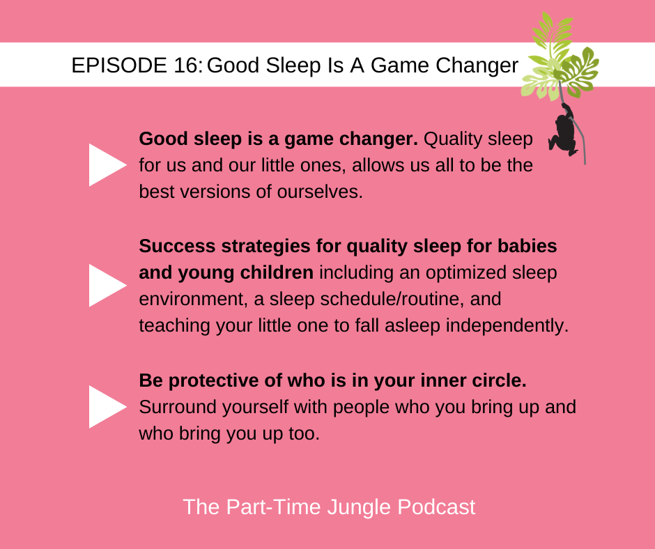 Eva Klein, of My Sleeping Baby, talks about how good sleep is a game changer for both parents and kids, success strategies for quality sleep for babies and young children, and being protective of who is in your inner circle or village.