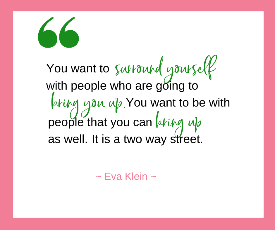 Eva Klein, of My Sleeping Baby, talks about being protective of your inner circle and surrounding yourself with people who bring you up and who you bring up as well.