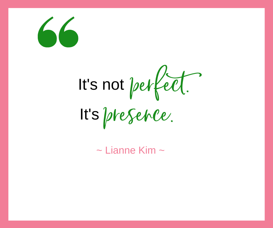 Lianne Kim, of Mamas & Co., talks about how it's not about perfection but rather presence in our family life and our work life.