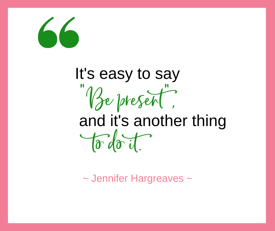 "Jennifer Hargreaves, founder and CEO of tellent, talks about how the ""idea"" of being fully present in our work life & family life is much easier than the implementation."