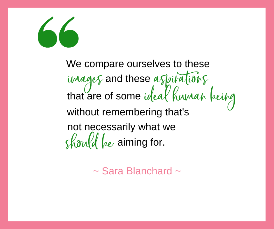 Sara Blanchard, co-host of the Dear White Women Podcast and author of Flex Mom, talks about how comparisons in motherhood can cause us to lose sight of what we should actually be aiming for and what is important to us and our families.