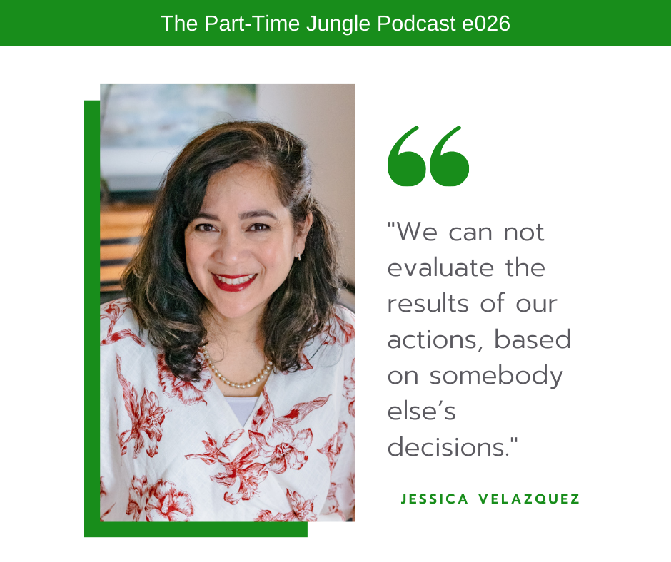 Jessica Velazquez, of Interiors by Jessica, talks about how we can't evaluate the results of our actions based on someone else's decisions. We have to evaluate our results based on the things that we can control such as our own actions and decisions.