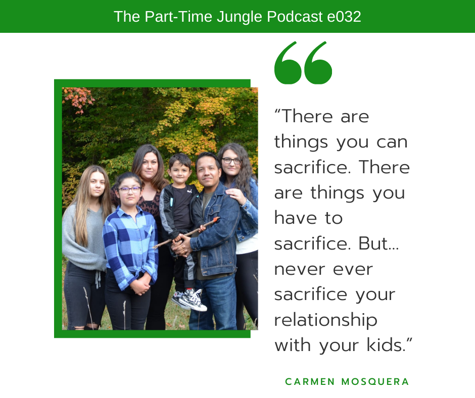Carmen Mosquera, of Parent Crush, talks about how there are things you can sacrifice but you should never sacrifice your relationship with your kids.