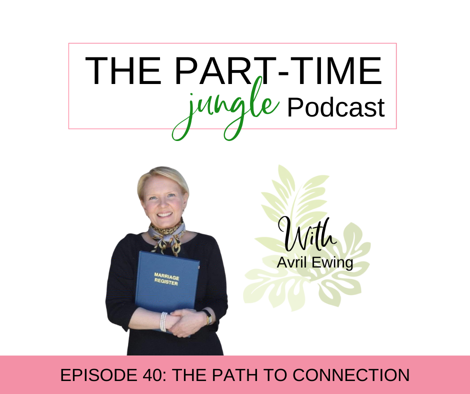 """Avril Ewing, an ordained wedding officiant & celebrant, talks about human connection, following your """"right"""" path, & comparison culture."""