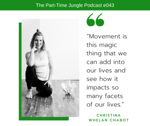Christina Whelan Chabot, of Matters of Movement, talks about the magic of movement to positively impact so many facets of our lives.